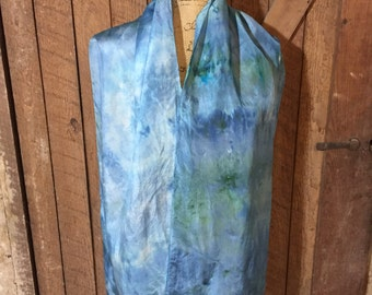 Blue Ice Dyed Scarf