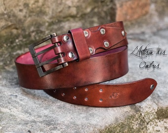 Belt 40mm single red ancient