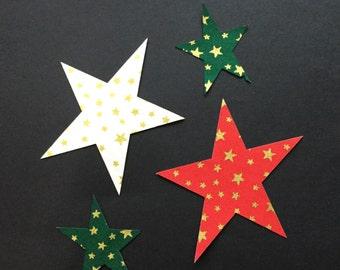 Iron on applique christmas stars
