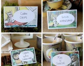 Food/Place Labels- where the wild things are