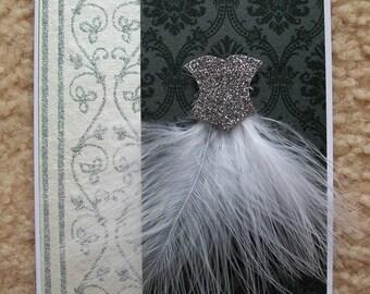 Ballerina Dress Card WG2
