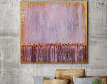 Original Painting, 36x36 Canvas Large Abstract Art, Pink Abstract, Modern Art, Acrylic Painting Oil Painting, Abstract Canvas Art Wall Decor
