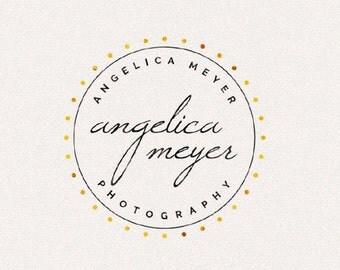 Gold Logo   Logo Design, Graphic Design, Custom Logo, Photography Logo, Logo for Small Business, Boutique Logo