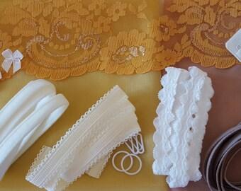 Gold lace bra kit