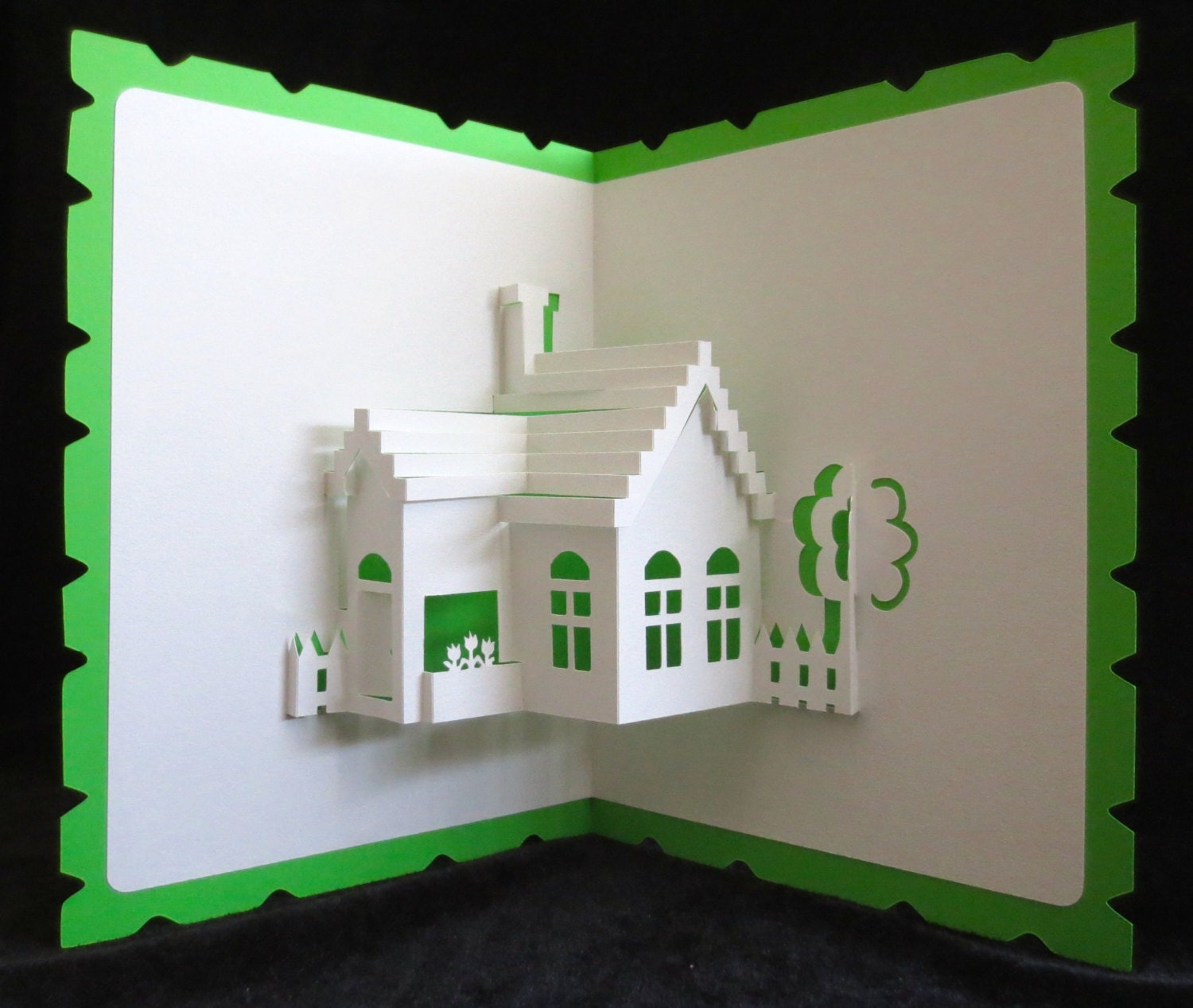 pop up card pop up 3d greeting card house warming moving. Black Bedroom Furniture Sets. Home Design Ideas