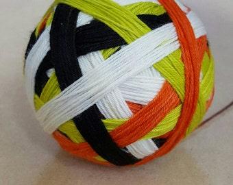 Hand Dyed Self Striping Sock Yarn ~ Hocus Pocus Halloween ~ Sockcess ~ 75/25 superwash merino/ nylon or Sport Weight ~ 80/20
