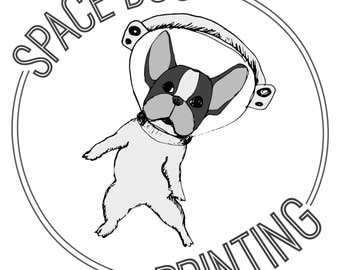 Space Dog Printing sticker