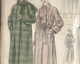 "1940s Vintage VOGUE Sewing Pattern B36"" COAT (95)  Vogue 6621"