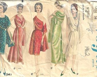 "1962 Vintage VOGUE Sewing Pattern B32"" DRESS (1312)  Vogue 5624"