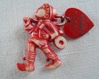 Rare WW2 WWll Plastic celluloid Sweetheart Pin