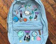 Soft grunge denim backpack