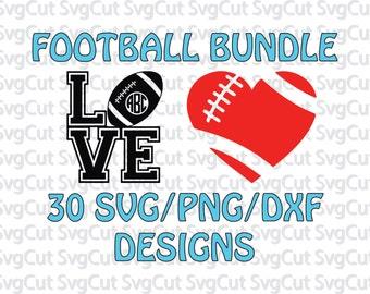 30 Football SVG bundle - Vector design pack png - Vector Cut File -  Football Monogram Frames - Football Mom SVG, Football Dad SVG - Svg Cut