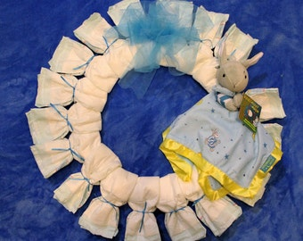 SALE Goodnight Moon Diaper Wreath/Baby Boy Diaper Wreath