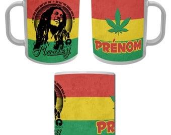 Mug Cup Bob Marley with custom name - Reggae