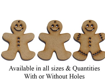 Wooden MDF Christmas Gingerbread Craft Shapes