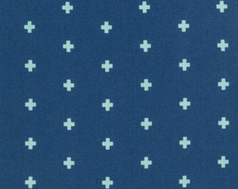 1 Yard Cross Midnight, Wander Collection by Joel Dewberry, Quilting Cotton, Gender Neutral Fabric