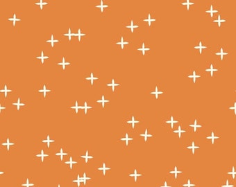 Wink Orange, Mod Basics 3 Collection, Birch Fabrics, Organic Quilting Cotton