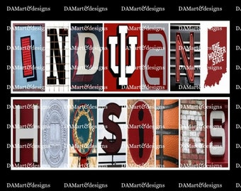 Indiana Hoosiers  Alphabet Photo Art