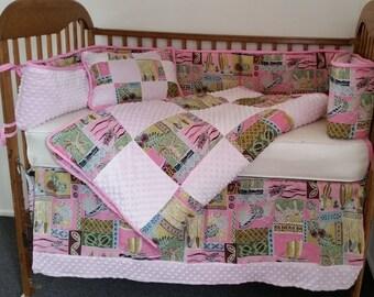 Baby Girls Hawaiian Crib Set Hawaiian Days Pink