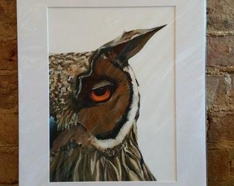 Humphrey, Eagle Owl limited edition print