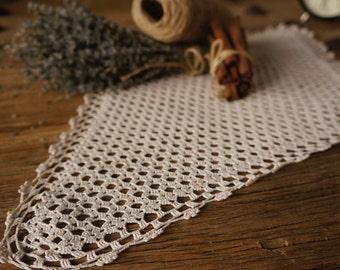 Large charming vintage crotchet doily, antique lace, handmade doily,vintage large table cloth, crotched lace, lace doily, vintage lace