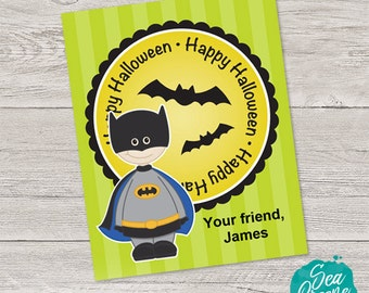 Printable halloween tags | Personalized treat tags