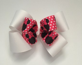 Minnie Mouse Bow, Polka Dots, bows for girls, Minnie Mouse, Disney Bow, Minnie Bow, Minnie, Disney hair, Disney trip, Disney hair