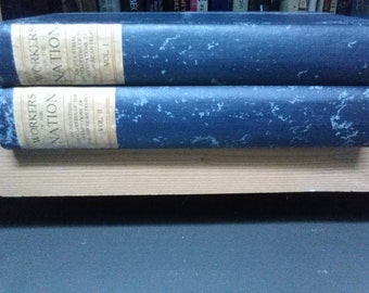 Rare First Edition Reference Book-Workers of the Nation, complete 1903 two volume set