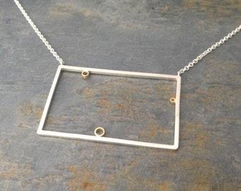 Play Geometric Rectangle Pendant