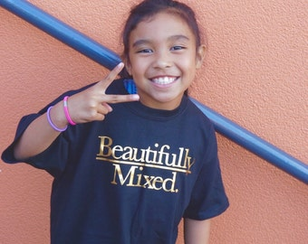 Children/Youth tee in gold font