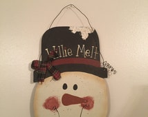 Willie Melt Hanging Snowman