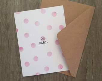 Oh baby expecting card