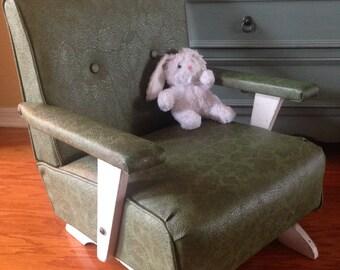 Vintage Child's Spring Platform Rocking Chair