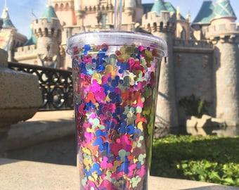 Mickey Mouse Confetti Cold Drink Tumbler