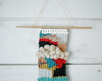Small Wall Weaving // Wall Hanging // Ready to Ship // OOAK
