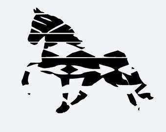 Aztec print horse