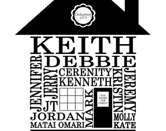 Family Home/Personalized downloadable print