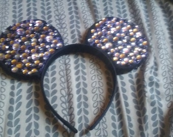 Mickey Mouse/ Minnie Mouse Ears with Jewels