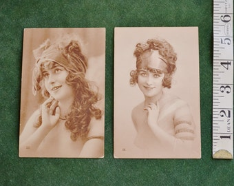 Antique French Pin Up postcards