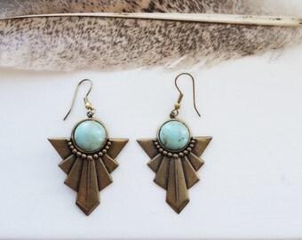 Native  - Boho Turquoise Earrings