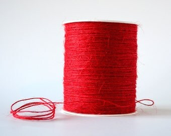 Red Twine in 100% Jute Gift Wrapping Supply 20 Yards