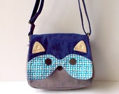 CUSTOM Sling Purse - Vintage Textural Blue - For brielouise