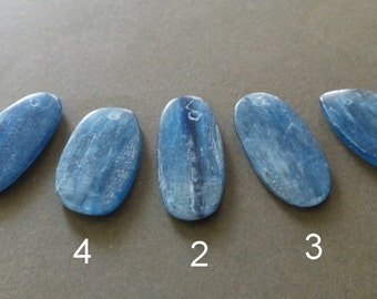 Polished Blue Kyanite Slab Focal Pendant