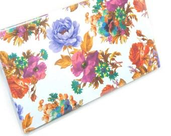 2016 - 2017  mini Planner - Vivid Romantic Floral - pocket planner - two year planner - 2 year monthly planner HORIZONTAL FORMAT