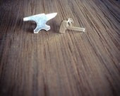 Anvil + Hammer Stud Earrings - Sterling Silver