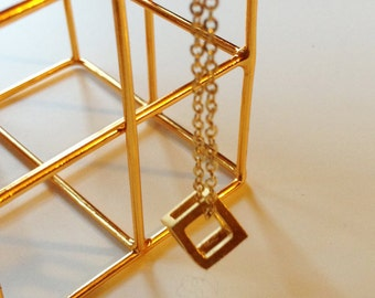 Cube Goldberg, Necklace in Gold