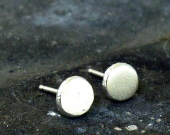 Dotted Stud Earrings, minimalist sterling silver earrings, silver stud earrings, post earrings by Kathryn Riechert