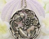Koi Pendant Necklace  - Over Koi'd! - Koi Jewelry - Goldfish Pendant - Fish Jewelry