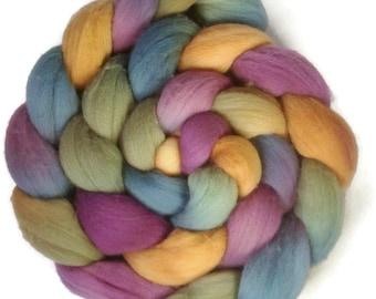 Handpainted Targhee Wool Roving - 4 oz. RIVENDELL- Spinning Fiber