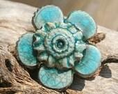 RAKU FLOWER Shank Button